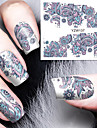 fleur eclose nail art decalcomanies eau transfert ongles autocollants nail art decoration ne jolie