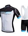 fastcute Maillot et Cuissard a Bretelles de Cyclisme Femme Homme Enfant Unisexe Manches courtes VeloRespirable Sechage rapide