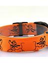 Hundar Halsband / Koppel LED Lampor / Justerbara/Infällbar / batterier ingår / Strobe Djur Röd / Grön / Blå / Rosa / Gul / Orange Nylon