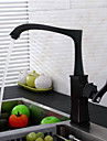 Deck Mounted Pullout Spray with Ceramic Valve Single Handle One Hole for Oil-rubbed Bronze , Kitchen