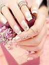 24st romantisk fransk skönhet naglar och fashionabla elegant ett ställ