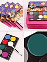 maquillage facial pigment de peinture de halloween securite diy 8 couleurs des costumes de pigment facile a nettoyer