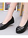 Dame Pantofi Flați Primăvară / Vară / Toamnă Confortabili Piele Casual Toc Plat Combinată Negru / Verde Others
