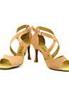 Customizable Women\'s Dance Shoes Latin/Salsa Satin Customized Heel Black/Blue/Yellow/Pink/Purple/Red/White/Fuchsia