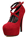 Homme-Decontracte-Noir / Bleu / Rouge-Talon Aiguille-Confort-Chaussures a Talons-Polyurethane