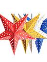 45cm noel papier laser etoile decoration de Noel suspendus pliage 3d pentagramme main noel ornements d\'arbre 4 couleurs