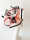 Kentucky Derby Church Races Yellow Flax Red/Black/White Wedding Event Fascinator