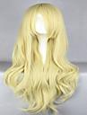 Anime promotion Touhou projet kirisame marisa 80cm longs ondules blonds perruque cosplay