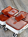 6pcs Sac de Voyage Cubes de Rangement Rangement pour Valise Etanche Resistant a la poussiere Durable Pliable pour Rangement de Voyage