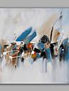 Peint a la main Abstrait / Paysage Peintures a l\'huile,Modern / Classique Un Panneau Toile Peinture a l\'huile Hang-peint For Decoration