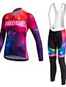 Sportif Maillot de Cyclisme Femme Manches longues VeloGarder au chaud / Sechage rapide / Doublure Polaire / Permeabilite a l\'humidite /