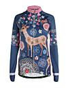 Sportif Veste de Cyclisme Femme Manches longues Velo Respirable Garder au chaud Zip frontal Poche arriere Tissu Ultra Leger Maillot