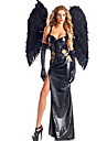 Costumes de Cosplay Costume de Soiree Ange et Diable Fete / Celebration Deguisement d\'Halloween Noir Couleur PleineRobe Plus