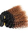 A Ombre Cheveux Bresiliens Boucle 6 Mois 3 Pieces tissages de cheveux