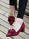 Homme-Decontracte-Noir / Bleu / Rouge-Gros Talon-Confort-Chaussures a Talons-Daim