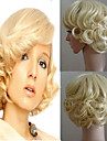 Marilyn Monroe mode cosplay cheveux perruque frisee perruques resistantes courte blonde coiffure party halloween chaleur perruque