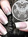 2016 senaste versionen mode mönster fjäril blomma nail art stämpling bild mall plattor
