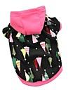 Chat / Chien Pulls a capuche / Pyjamas Rouge / Noir / Rouge Rose Vetements pour Chien Hiver / Printemps/Automne Coeur Mignon / Mode