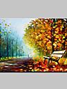 Peint a la main Paysage / Paysages Abstraits Peintures a l\'huile,Modern Un Panneau Toile Peinture a l\'huile Hang-peint For Decoration