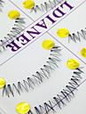 Cils Cil Cils Entiers Yeux Croises Fait a la main Fibre Transparent Band 0.10mm 12mm