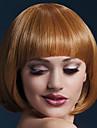 kvinnor bob peruk ljusbruna korta raka peruker för kvinnor värmebeständiga syntetiska peruker