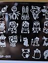 nouveau clou modele manucure estampage plaques personnages de dessins animes concoit le transfert de disque d\'image