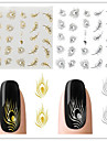 3sheet Nail Art Sticker Vatten Transfer Dekaler makeup Kosmetisk Nail Art Design