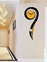Moderne/Contemporain Niches Horloge murale,Autres Metal / Bois 26*60cm Interieur Horloge
