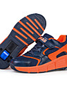 Garcon-Decontracte-Orange / Bleu royal-Talon Plat-Nouveaute-Sneakers-Polyurethane