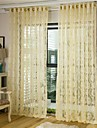 Un Panneau Le traitement de fenetre Europeen , Fleur Salle de sejour Polyester Materiel Rideaux opaques Decoration d\'interieur For Fenetre