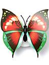 3pcs belle creatif changeant de couleur abs papillon led de nuit lampe belle maison de decoration veilleuses murales (style aleatoire)