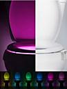 rörelse aktiveras toalett natt LED toalett ljus badrum tvättrum