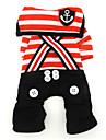 Chien Costume / Combinaison-pantalon Rouge / Noir Vetements pour Chien Hiver / Printemps/Automne Marin Mignon / Cosplay