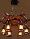 Lumini pandantiv ,  Tradițional/Clasic Vopsire Caracteristică for Stil Minimalist Lemn / bambusSufragerie Dormitor Cameră de studiu/Birou