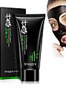 charbon de bambou charbon actif blanchissant visage aspiration masque noir nez comedons tete noire decapant pelage masque