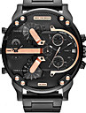 Bărbați Ceas Militar Ceas Elegant Ceas La Modă Ceas de Mână Quartz Calendar Zone Duale de Timp Punk Piele Bandă Vintage Cool Casual Luxos