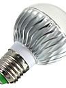 5W E14 / B22 / E26/E27 LED-globlampor B 3 Högeffekts-LED 400 lm RGB Dimbar / Fjärrstyrd / Dekorativ AC 85-265 V 1 st