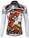 PALADIN® Maillot de Cyclisme Femme Manches longues VeloRespirable / Sechage rapide / Resistant aux ultraviolets / Compression / Materiaux