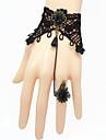 Bijoux Gothique Bague Retro Noir Accessoires Lolita  Bracelet Bague Dentelle Pour Femme Dentelle Alliage Gemmes artificielles