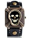 Men\'s Women\'s Couple's Unisex Sport Watch Fashion Watch Unique Creative Watch Quartz Punk Leather BandVintage Skull Camouflage Cool