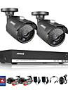 sannce® 4-kanals hela 960h CCTV dvr videoövervakning recorder 800tvl mörkerseende väderbeständiga kameror inbyggda 1TB