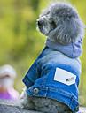 Hundar Jeansjackor Blå Hundkläder Vinter Vår/Höst Jeans Cowboy Mode
