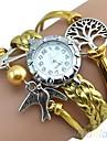 Damers Modeklocka Armbandsur Armbandsklocka Quartz Punk Färgglad PU BandVintage Tecknat Glittriga Godis Bohemisk Berlock Armring Fritid