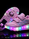 Fille-Exterieure Sport Decontracte-Noir Rose-Talon Bas-Confort Light Up Chaussures-Baskets-Cuir