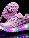 Fille-Exterieure Decontracte Sport-Noir Bleu Rose-Talon Bas-Confort Light Up Chaussures-Baskets-Polyurethane