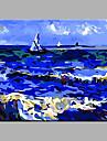 Peint a la main Paysage Peintures a l\'huile,Modern / Classique / Traditionnel / Realisme / Mediterraneen / Pastoral / Style europeenUn