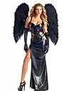 Conte de Fee Fete / Celebration Deguisement Halloween Noir Imprime Robe / Gants / AilesHalloween / Noel / Carnaval / Le Jour des enfants
