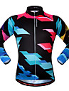 Wosawe® Unisexe Manches longues Velo Respirable / Zip frontal / Bandes Reflechissantes / Confortable Shirt / Maillot / Hauts/Tops