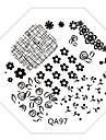 nail art image de timbre plaque d\'estampage modele serie qa