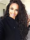 aspect naturel coiffure vague d\'eau sombre couleur noire brazilian vierge de dentelle de cheveux devant perruque avec des cheveux de bebe